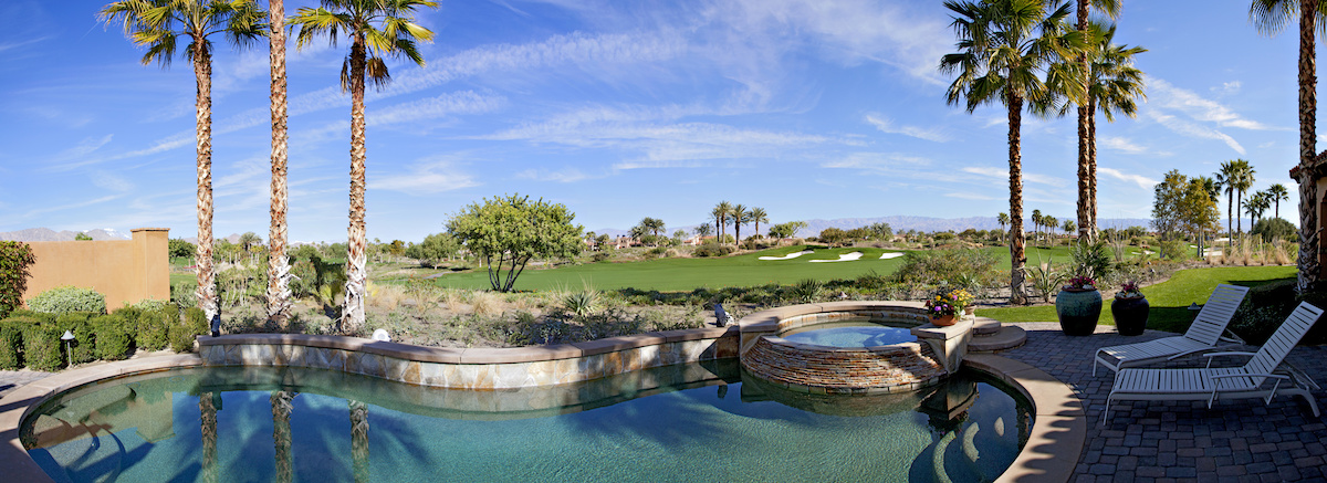 palm trees along beautiful pool home - Before You Hack a Tree: Why Hire a Certified Arborist?